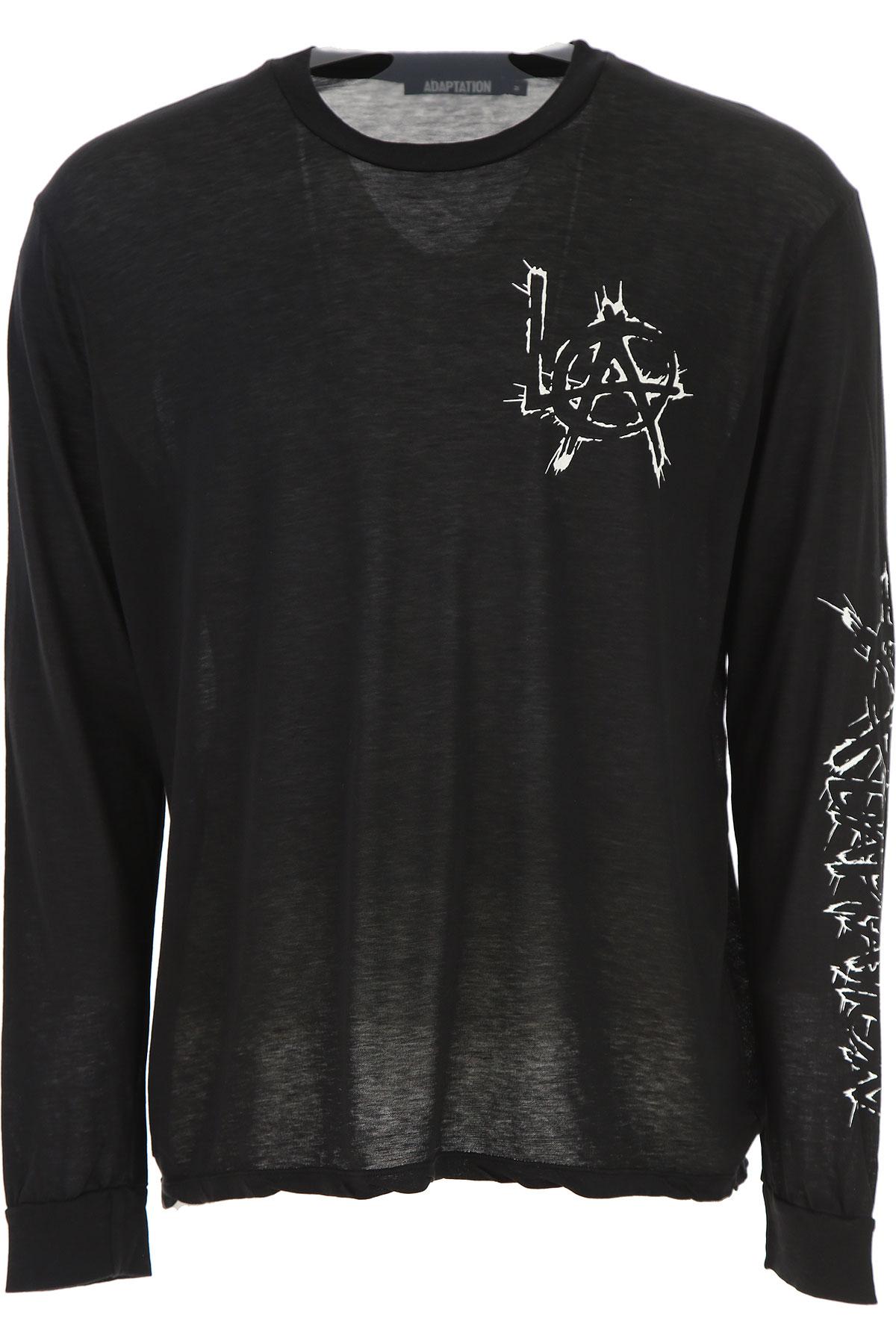 Image of Adaptation T-Shirt for Men, Black, Cotton, 2017, L M S