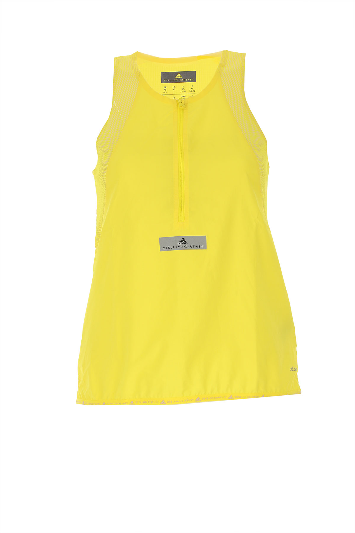 Image of Adidas Top for Women On Sale in Outlet, Yellow, polyester, 2017, 2 4