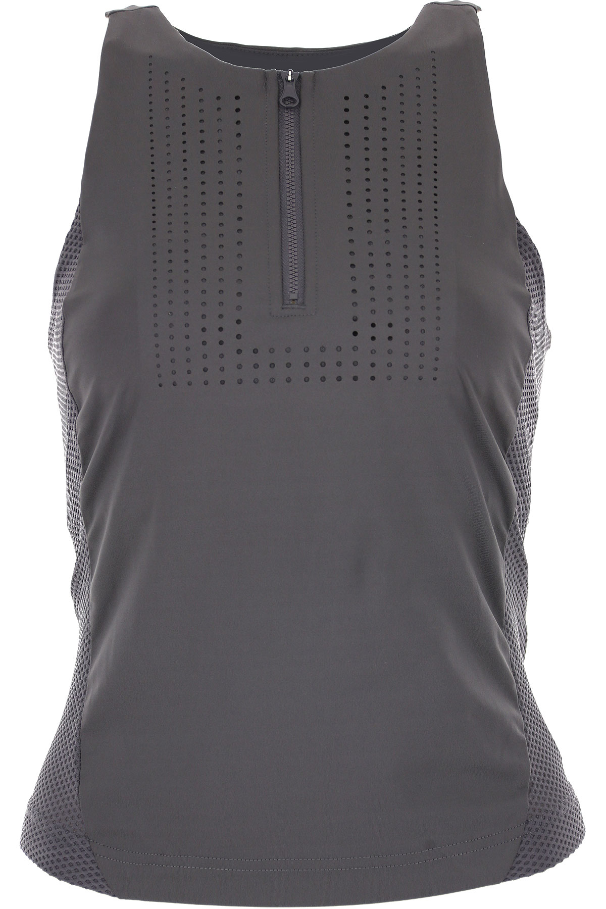 Image of Adidas Top for Women On Sale in Outlet, Asphalt Grey, Polyestere Recycled, 2017, 2 4 6