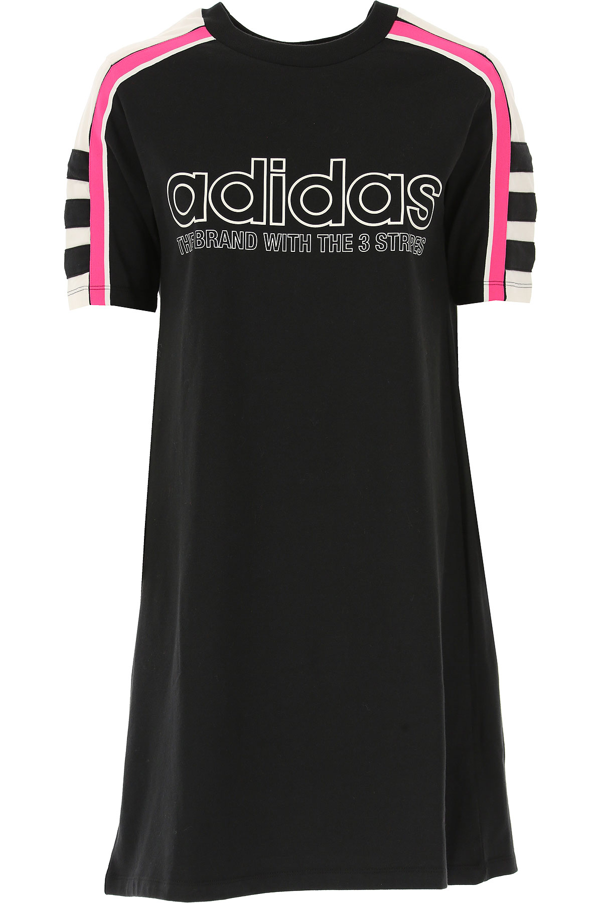 Image of Adidas Dress for Women, Evening Cocktail Party, Black, Cotton, 2017, 2 6 8