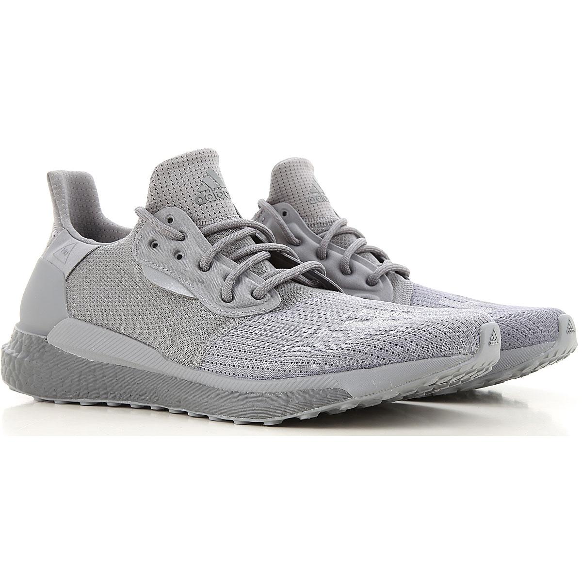 Adidas Sneakers for Men, Grey, Textile, 2019, USA 8 UK 6 5 EU 39 JAPAN 250 USA 6 UK 4 5 EU 37 JAPAN 230 US 8.5 • UK 7 • EU 40 • J 255 •