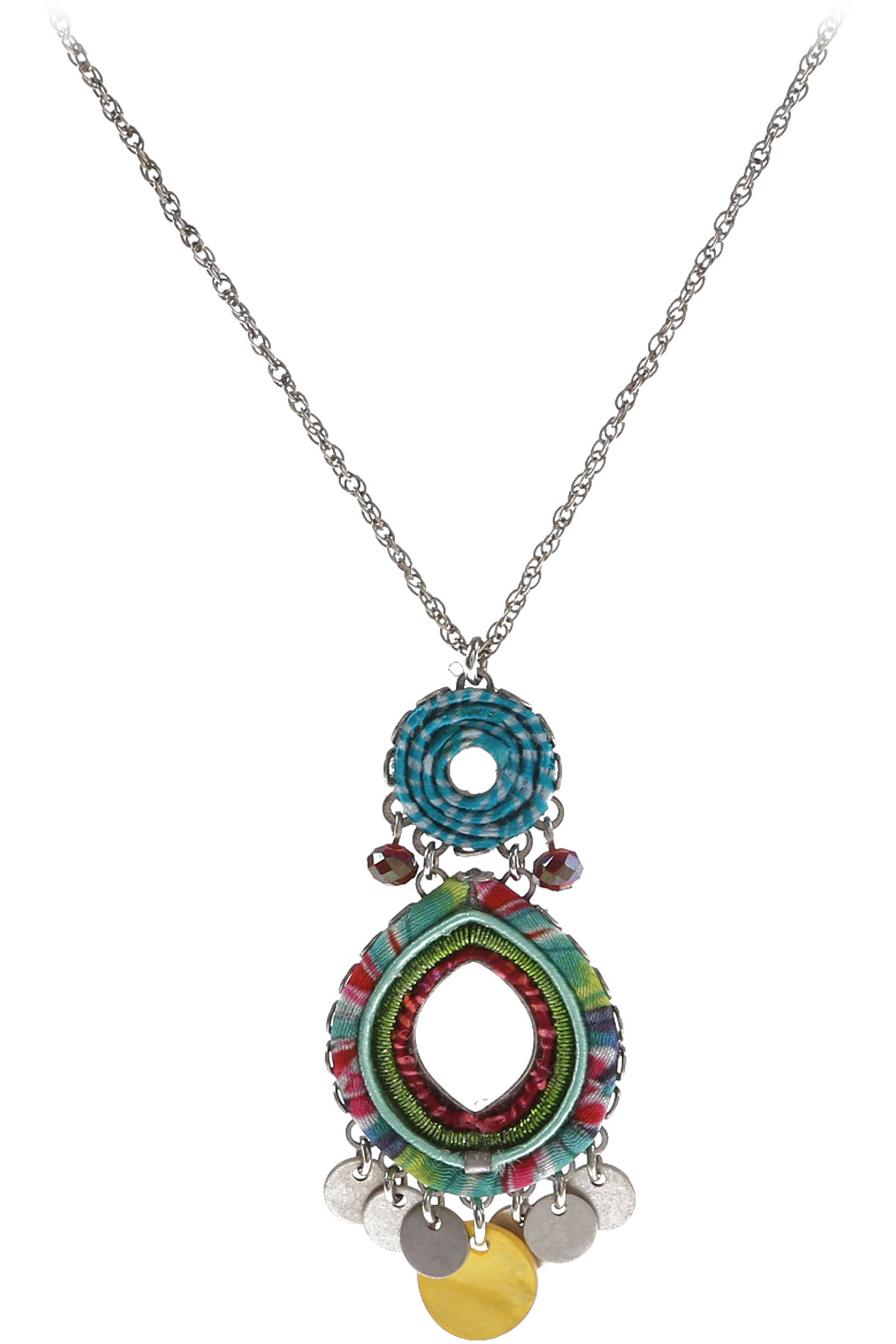 Ayala Bar Necklaces On Sale, Turquoise, Silver Plated, 2019