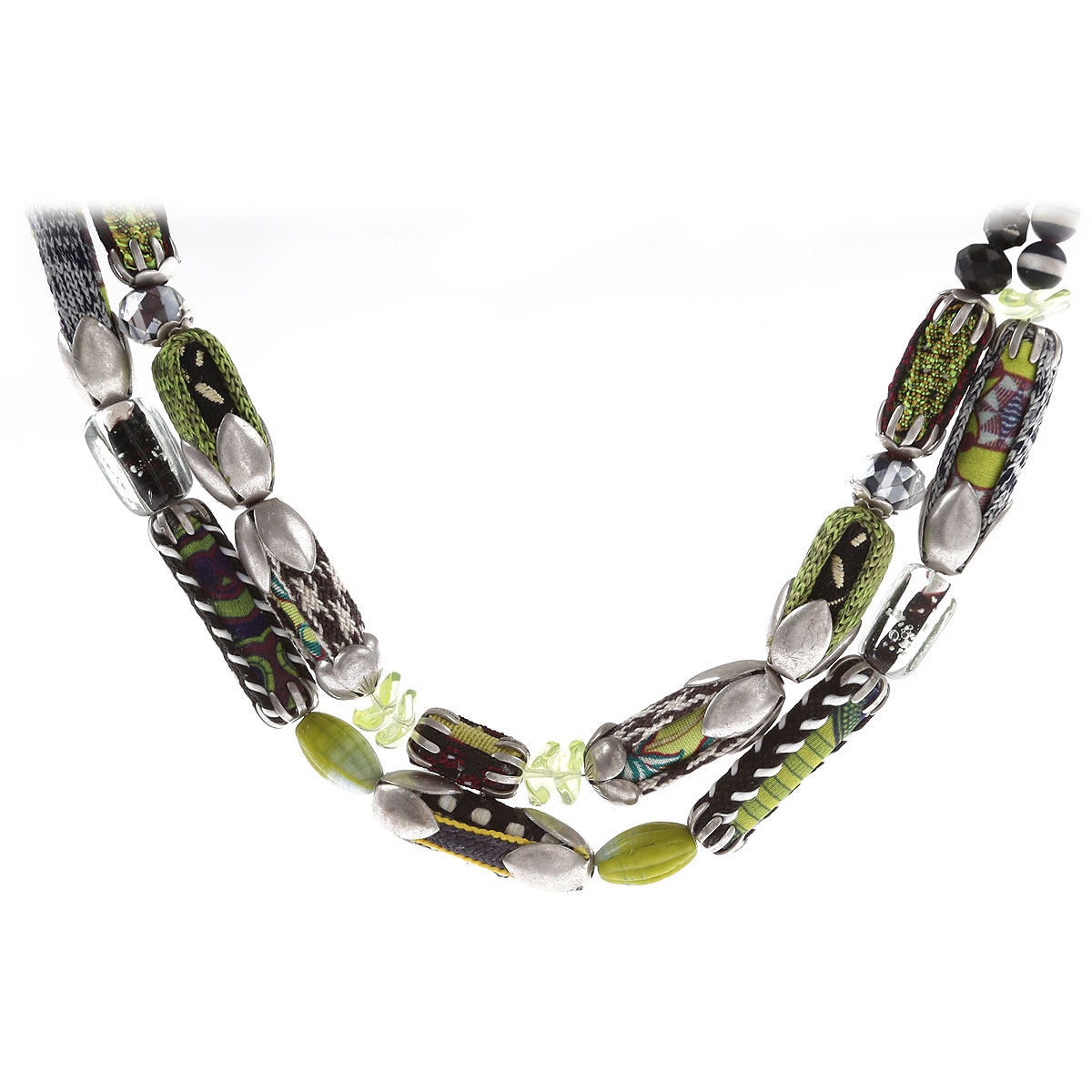 Ayala Bar Necklaces On Sale, Green, Fabric, 2019
