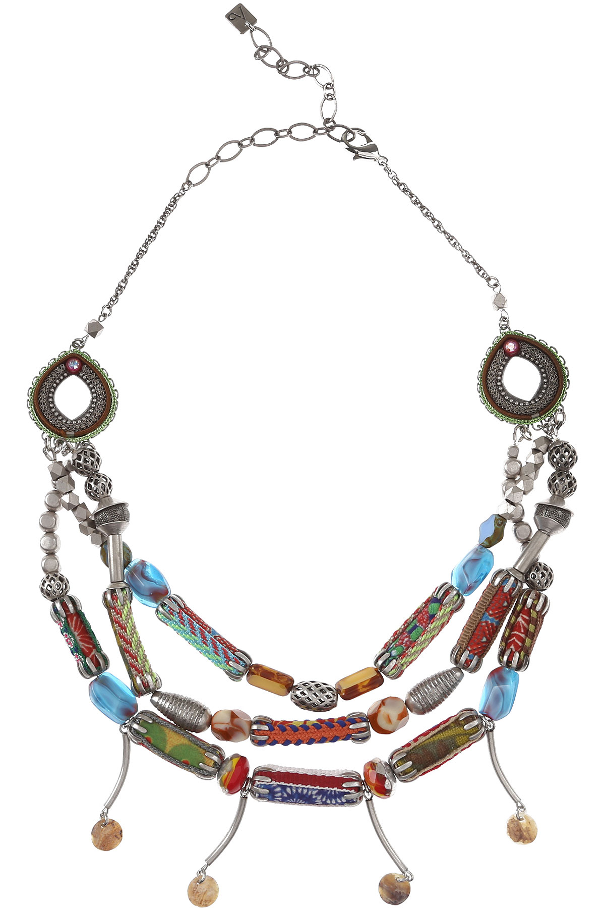 Ayala Bar Necklaces On Sale, Silver, Fabric, 2019