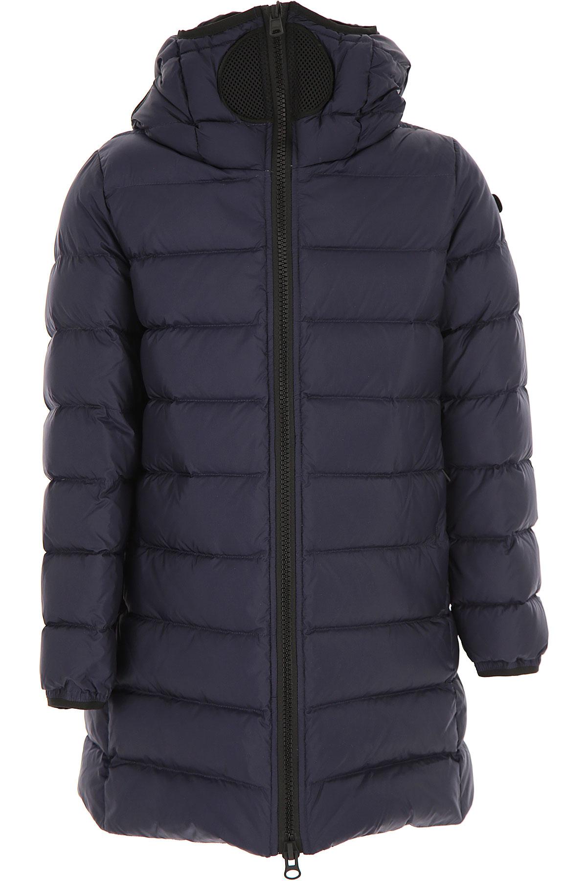 Ai Riders On The Storm Girls Down Jacket for Kids, Puffer Ski Jacket On Sale, Blue Navy, Nylon, 2019, 10Y 12Y 14Y 16Y 4Y 6Y 8Y