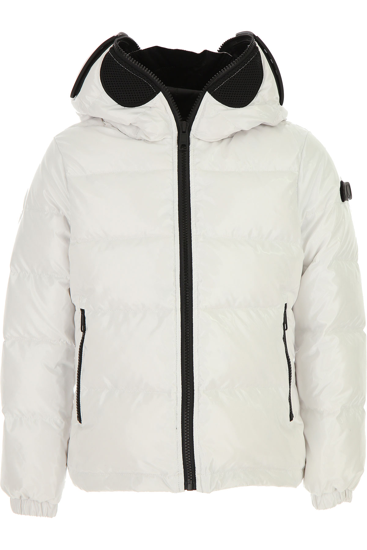 Image of Ai Riders On The Storm Girls Down Jacket for Kids, Puffer Ski Jacket, Off-White, polyester, 2017, 10Y 14Y