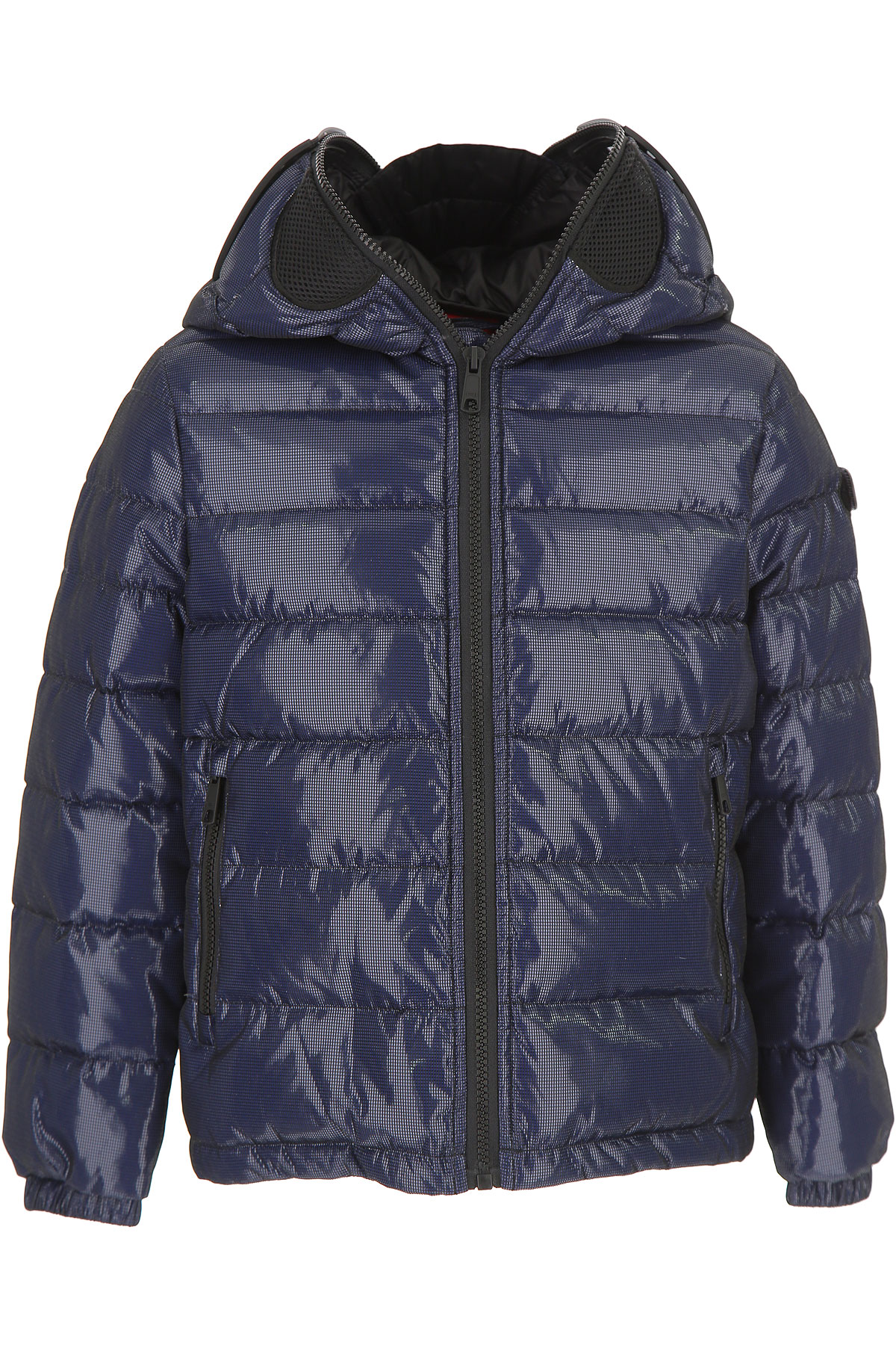 Image of Ai Riders On The Storm Girls Down Jacket for Kids, Puffer Ski Jacket, Navy Blue, polyester, 2017, 10Y 8Y