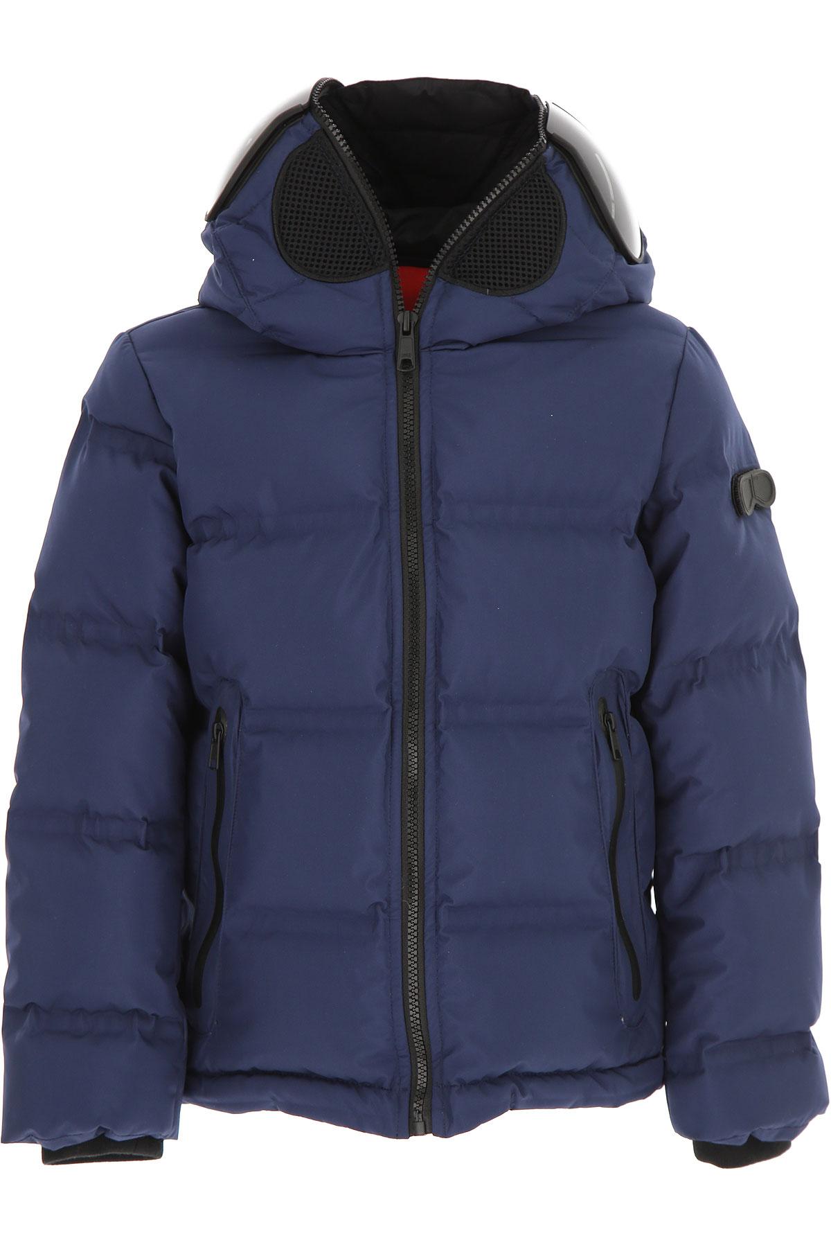 Image of Ai Riders On The Storm Boys Down Jacket for Kids, Puffer Ski Jacket, Night Blue, polyester, 2017, 10Y 14Y 16Y 4Y 6Y 8Y
