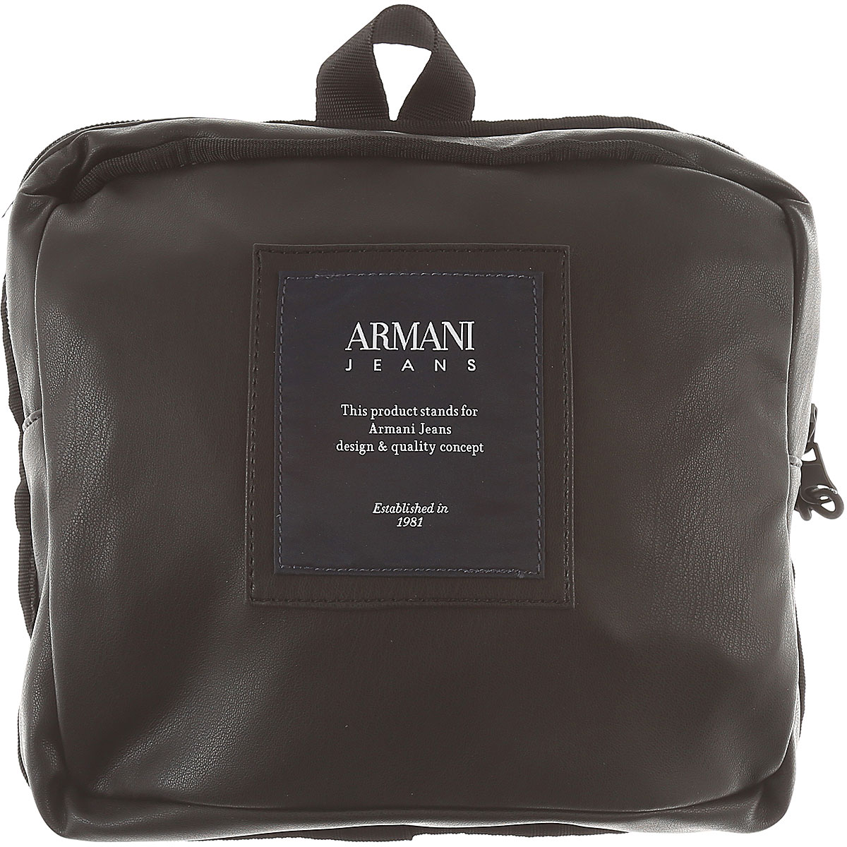 Image of Armani Jeans Backpack for Men On Sale, Black, Eco Leather, 2017