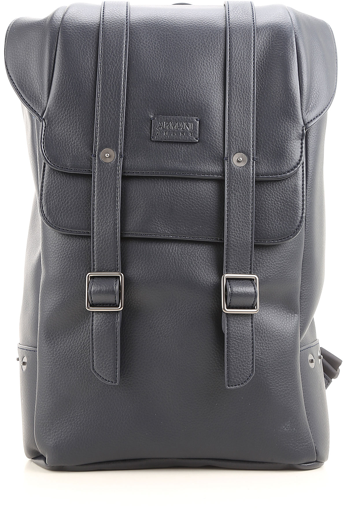 Image of Armani Jeans Backpack for Men On Sale, Blue, Leather, 2017