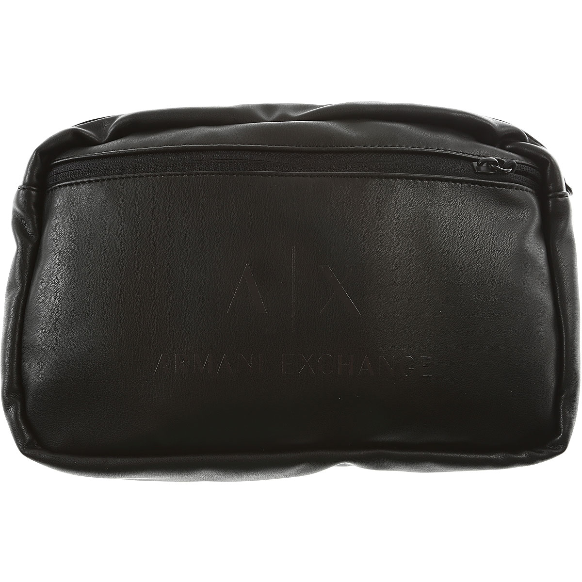 Image of Armani Jeans Messenger Bag for Men On Sale, Black, polyester, 2017