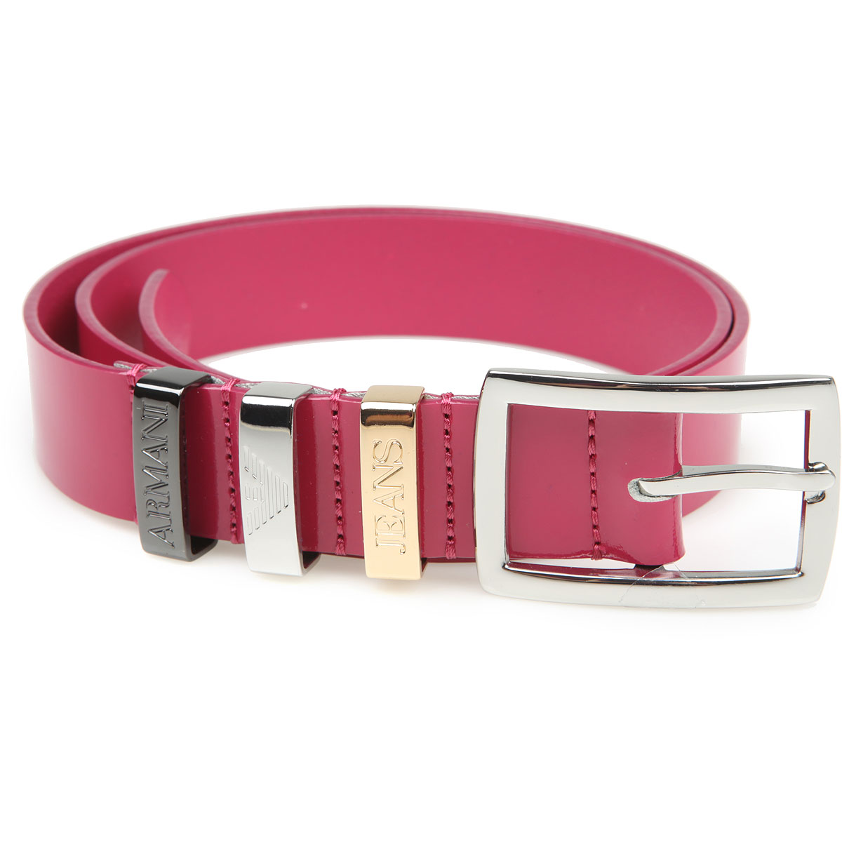 Armani Jeans Womens Belts On Sale, fuxia, Patent Leather, 2017, II (80-95 cm  32-38 inches) V (97-112 cm  38.2-44.1 inches)