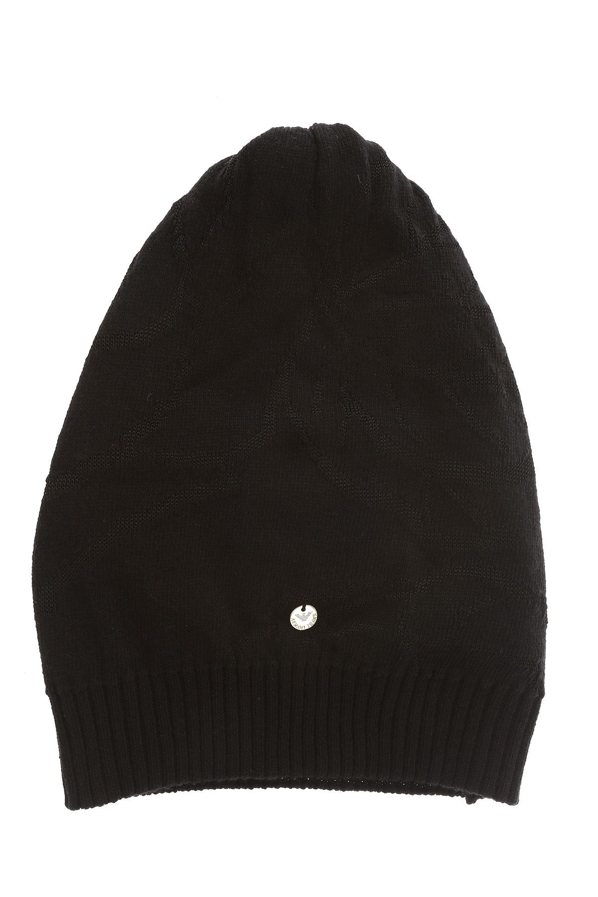 Image of Armani Jeans Hat for Women On Sale, Black, Viscose, 2017, III II I