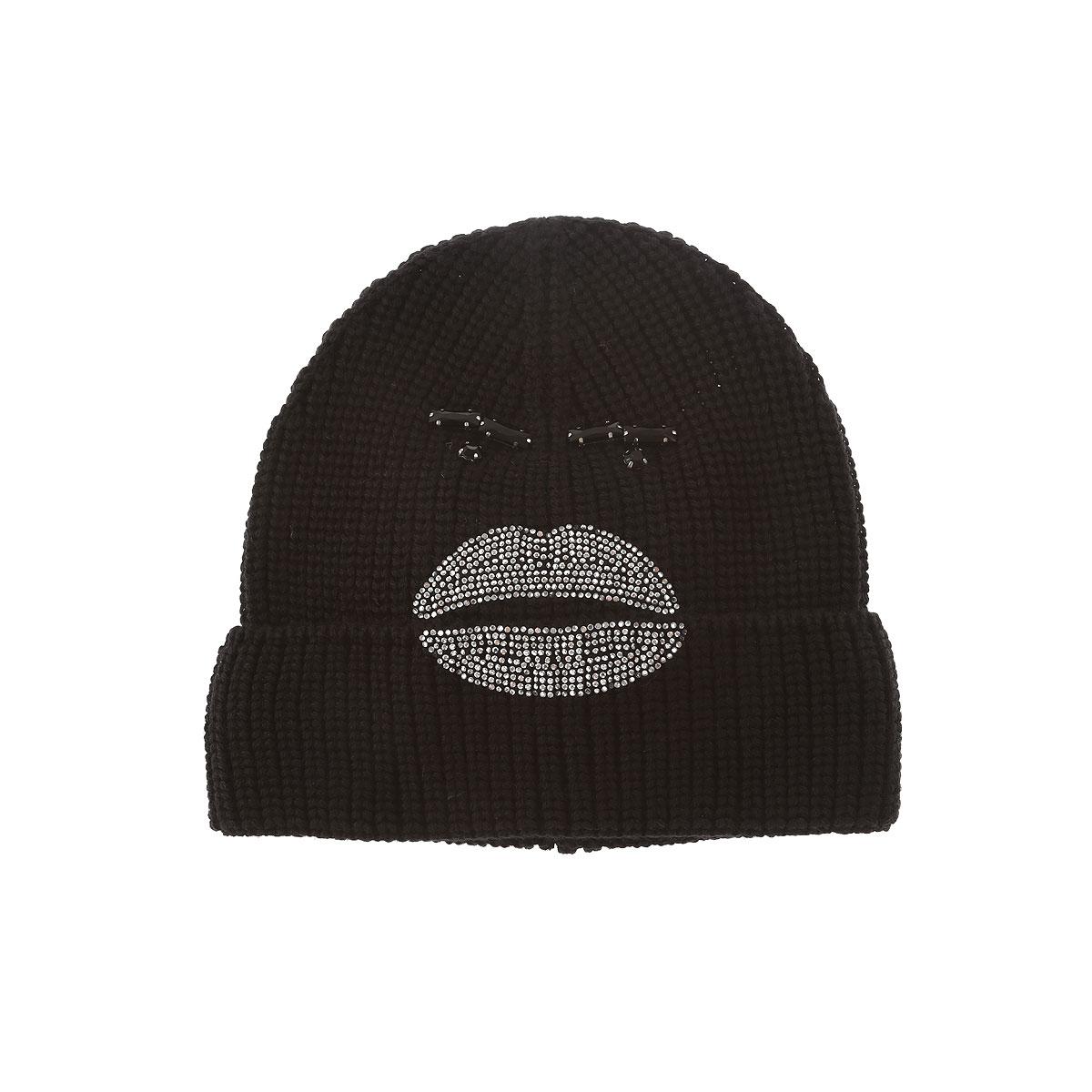 Image of Armani Jeans Hat for Women On Sale, Black, Wool, 2017, II I