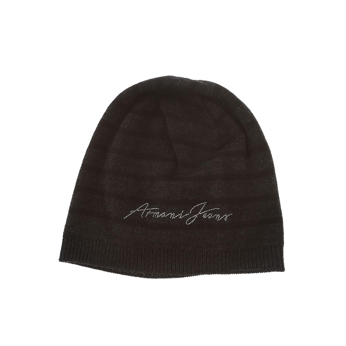 Image of Armani Jeans Hat for Women On Sale, Dark Grey, Wool, 2017, 7 8 III II I