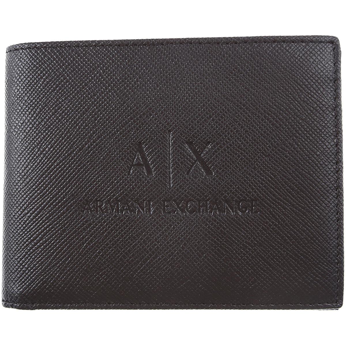 Armani Exchange Wallet for Men On Sale, Black, Saffiano Leather, 2019