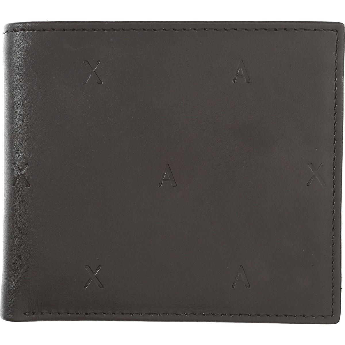 Armani Exchange Wallet for Men On Sale, Black, Leather, 2019