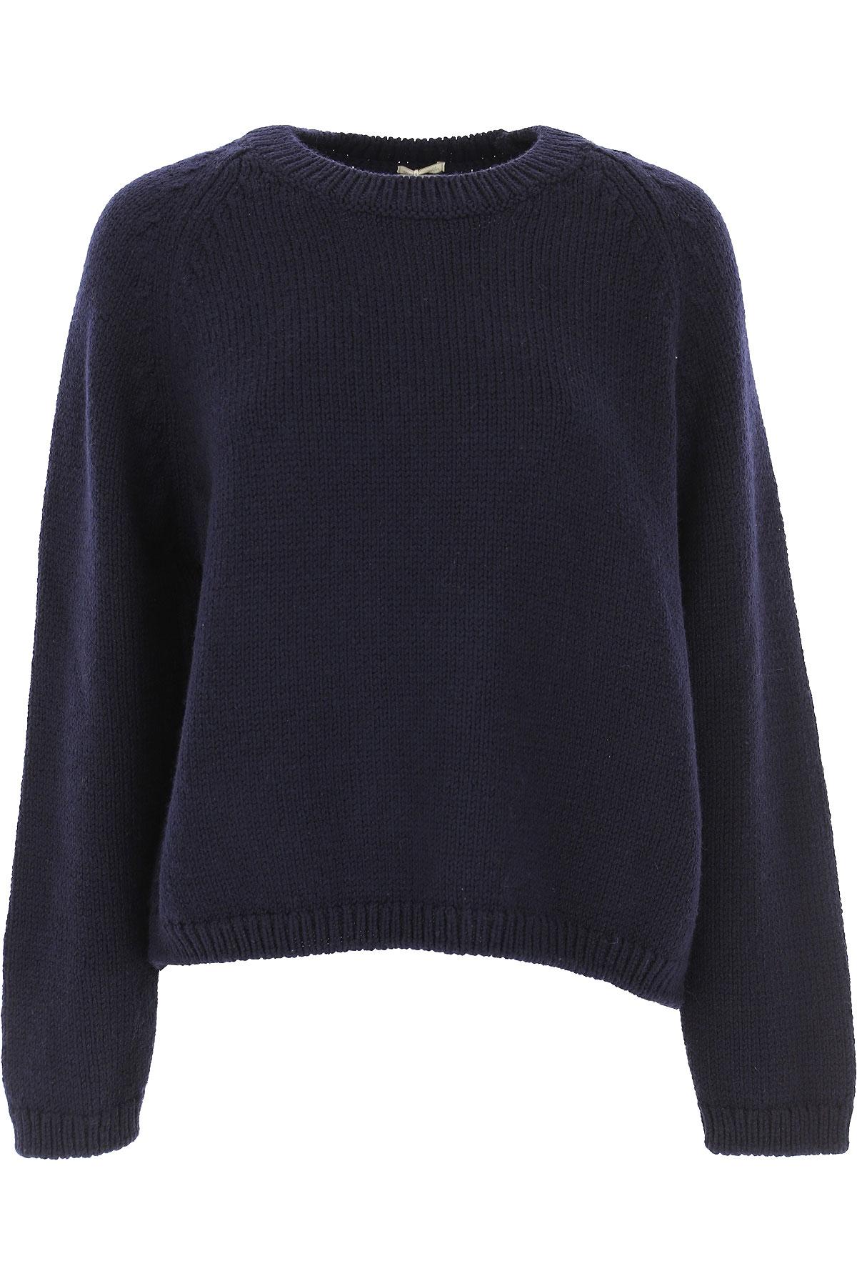 Massimo Alba Sweater for Women Jumper On Sale, Navy Blue, Wool, 2019, 6 8