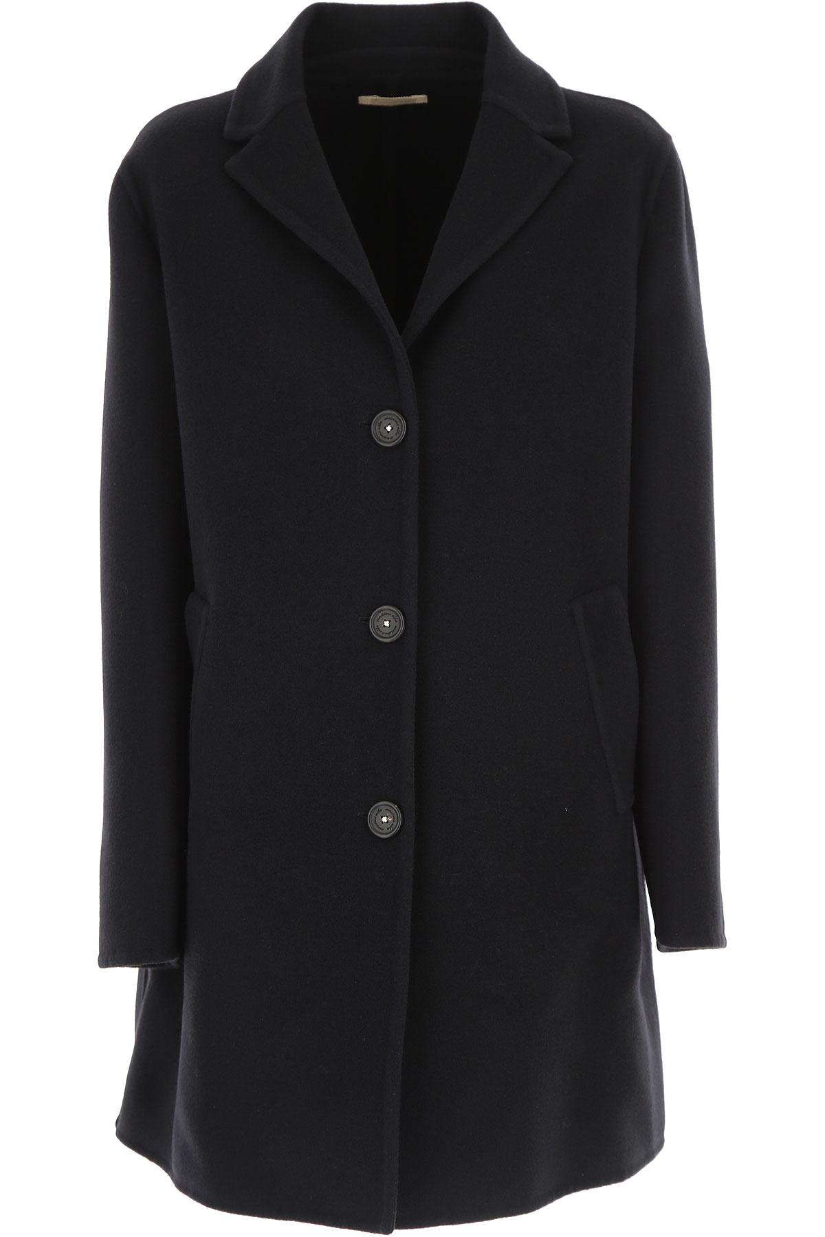 Image of Massimo Alba Women\'s Coat, Ink, fleece wool, 2017, 4 6