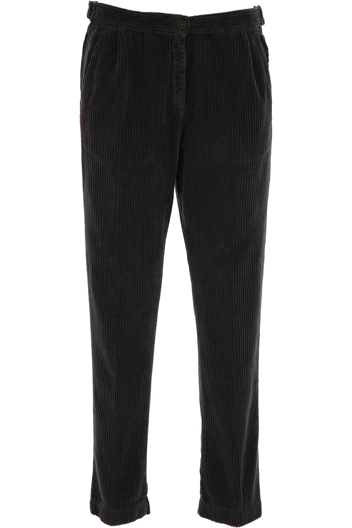 Massimo Alba Pants for Women On Sale, Carbon, Cotton, 2019, 30 32