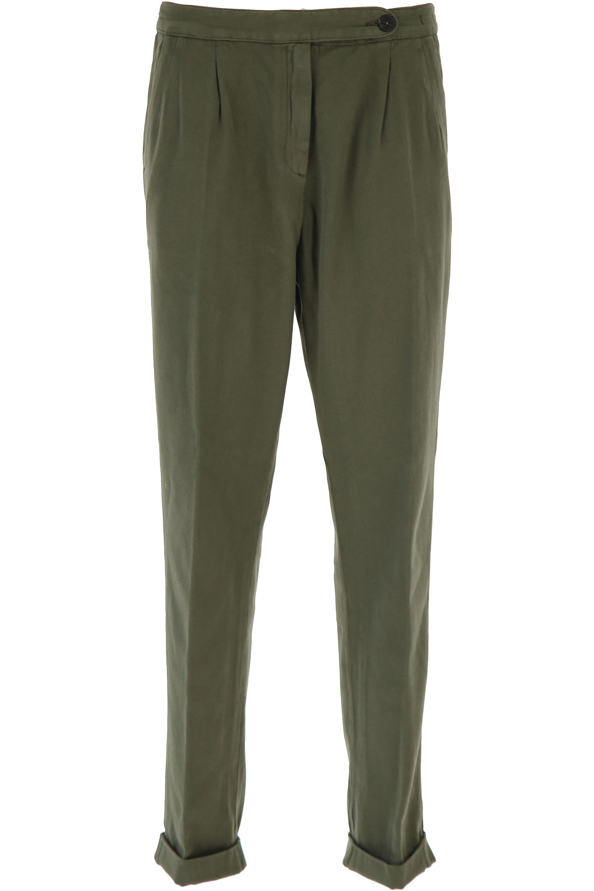 Massimo Alba Pants for Women On Sale, Military Green, Cotton, 2019, 26 28 32