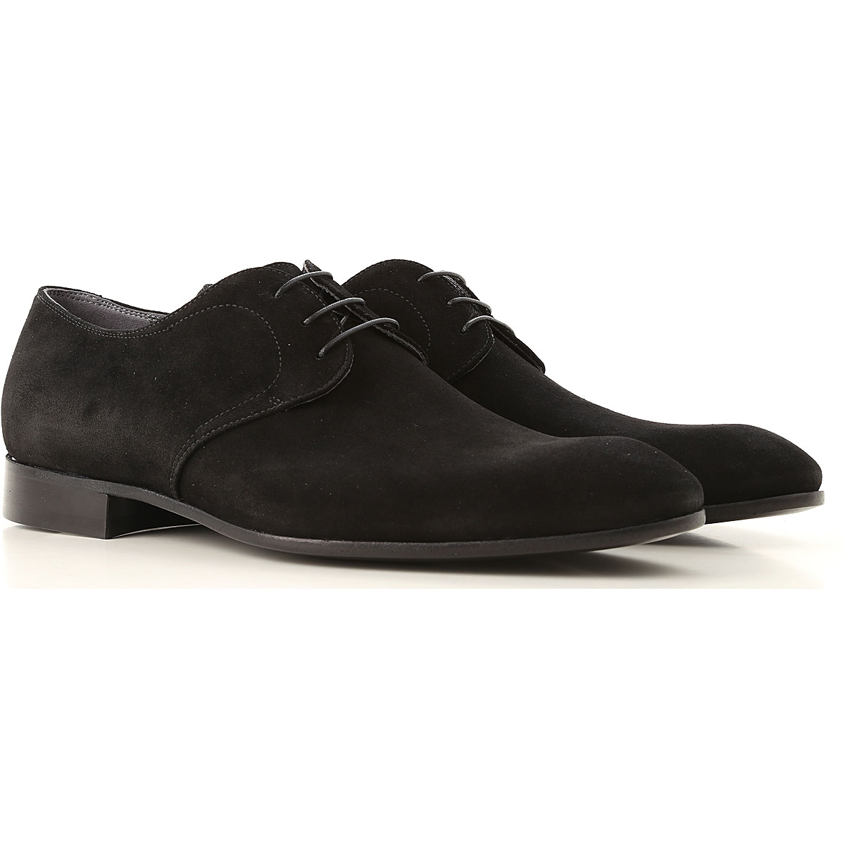 Image of Alberto Guardiani Lace Up Shoes for Men Oxfords, Derbies and Brogues, Black, Suede leather, 2017, 10 10.5 8 9
