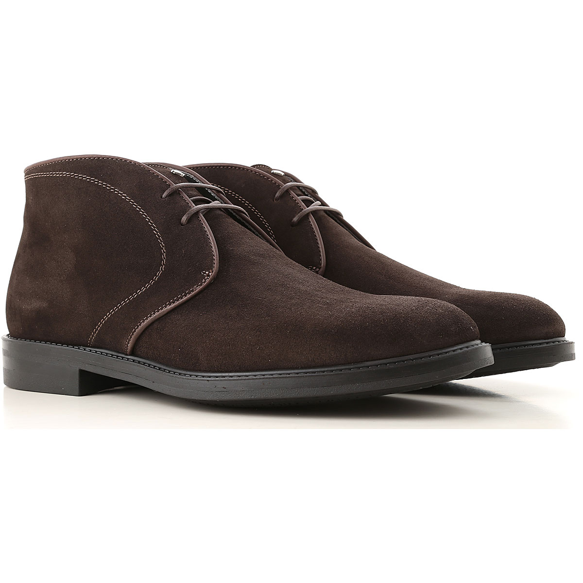 Alberto Guardiani Desert Boots Chukka for Men, Ebony, Suede leather, 2017, 10 10.5 7.5 8 9