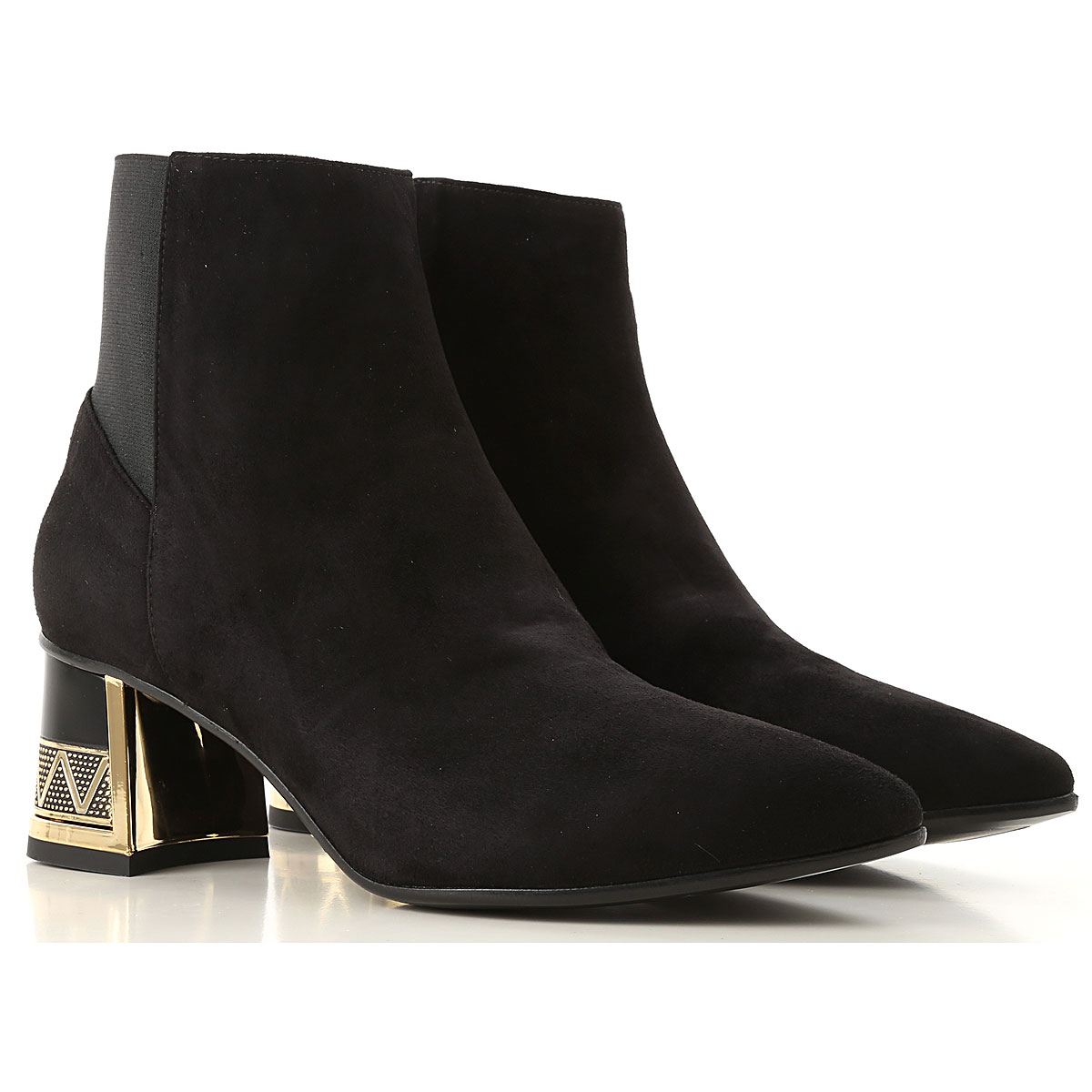 Image of Alberto Guardiani Boots for Women, Booties, Black, Suede leather, 2017, 10 6 7 8 9