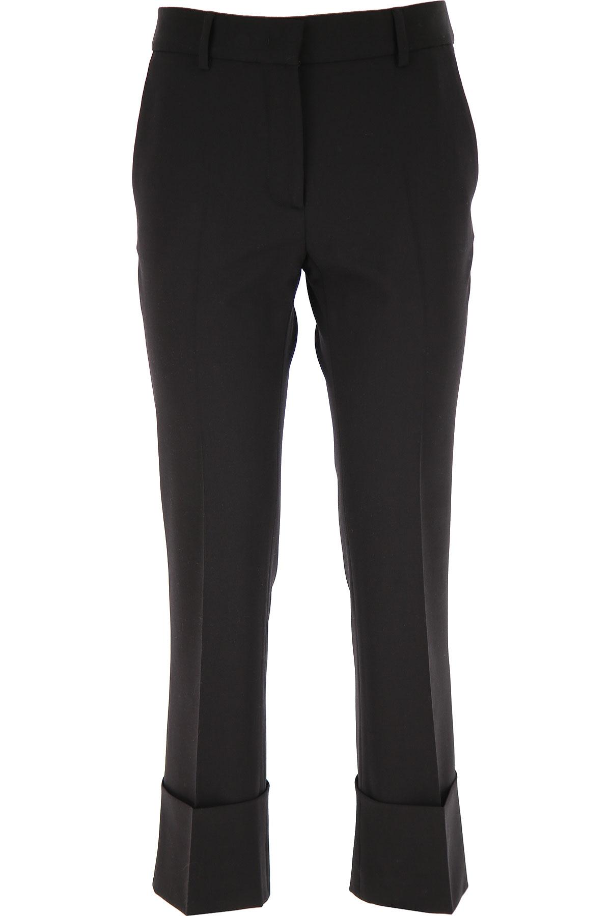 Alberto Biani Pants for Women On Sale, Black, fleece wool, 2019, 26