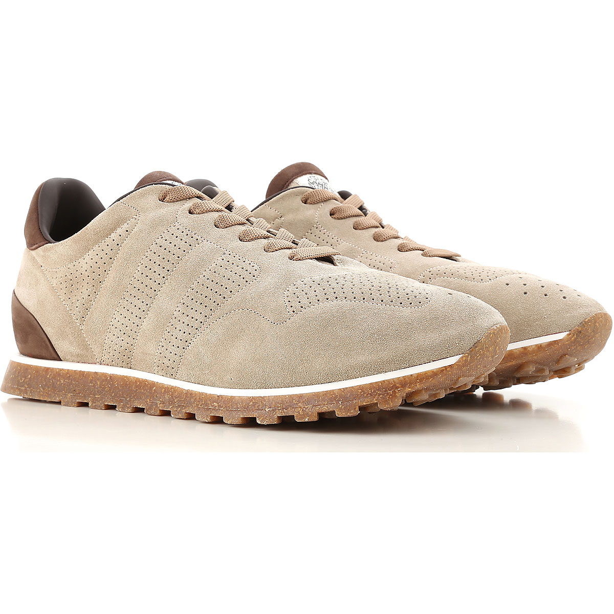 Image of Alberto Fasciani Sneakers for Men On Sale, Beige, Suede leather, 2017, 10 11 7 8 9