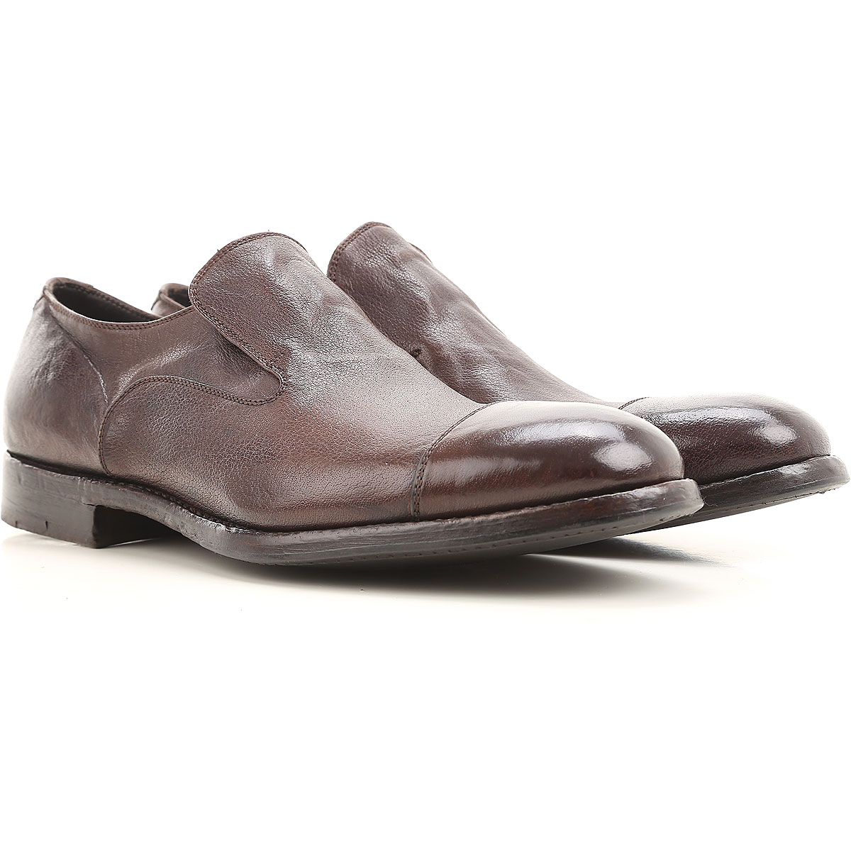 Image of Alberto Fasciani Loafers for Men On Sale, Brown coffee, Leather, 2017, 7 7.5 8 9
