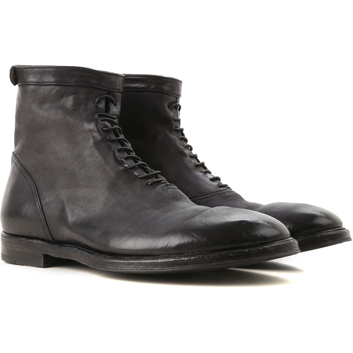 Image of Alberto Fasciani Boots for Men, Booties, Black, Leather, 2017, 8 9