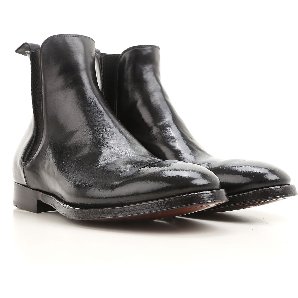 Image of Alberto Fasciani Boots for Men, Booties On Sale, Black, Leather, 2017, 10 8.5 9.5