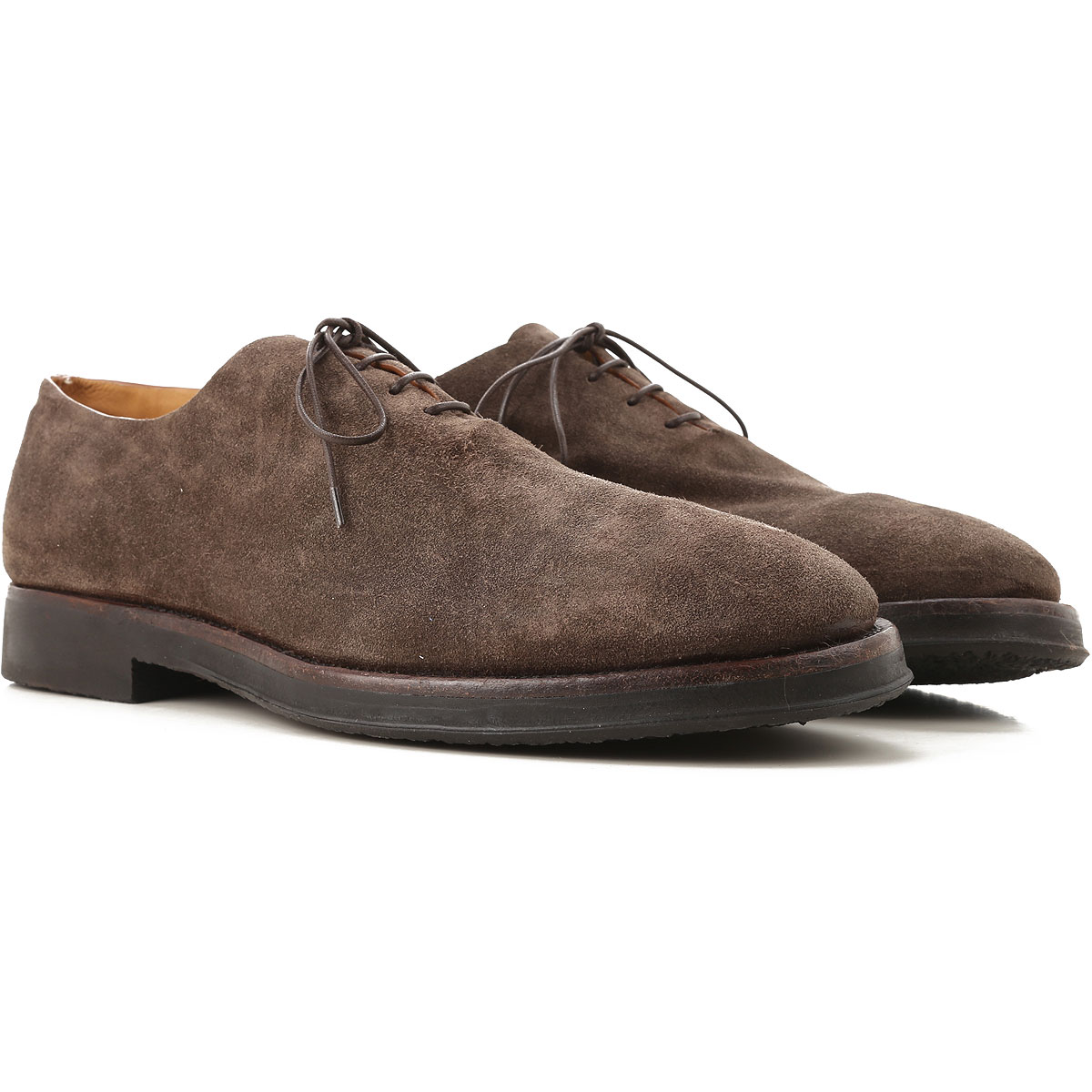 Image of Alberto Fasciani Lace Up Shoes for Men Oxfords, Derbies and Brogues, Elder, Suede leather, 2017, 10 11 7 9.5