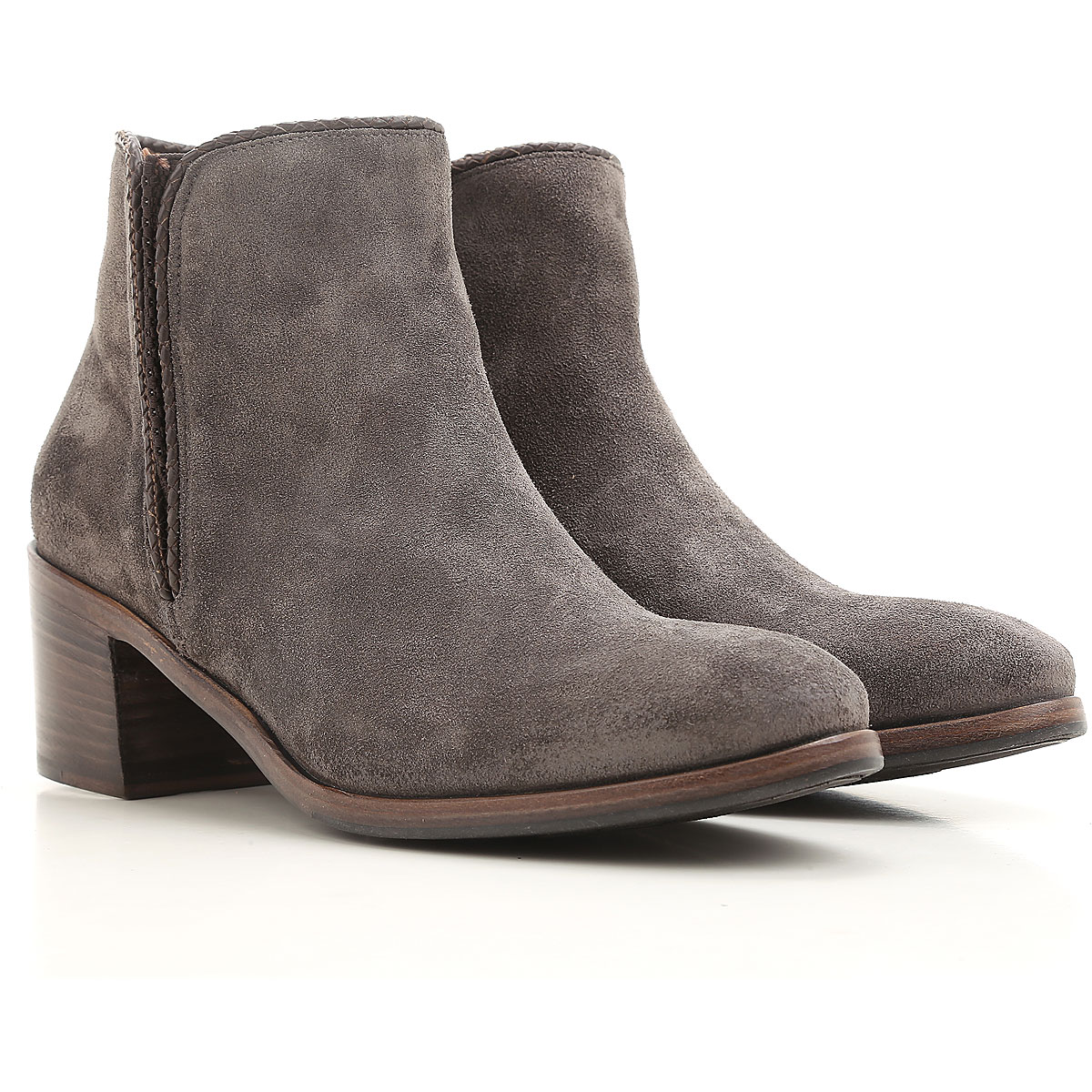 Image of Alberto Fasciani Boots for Women, Booties On Sale, Grey, suede, 2017, 10 6 8 8.5