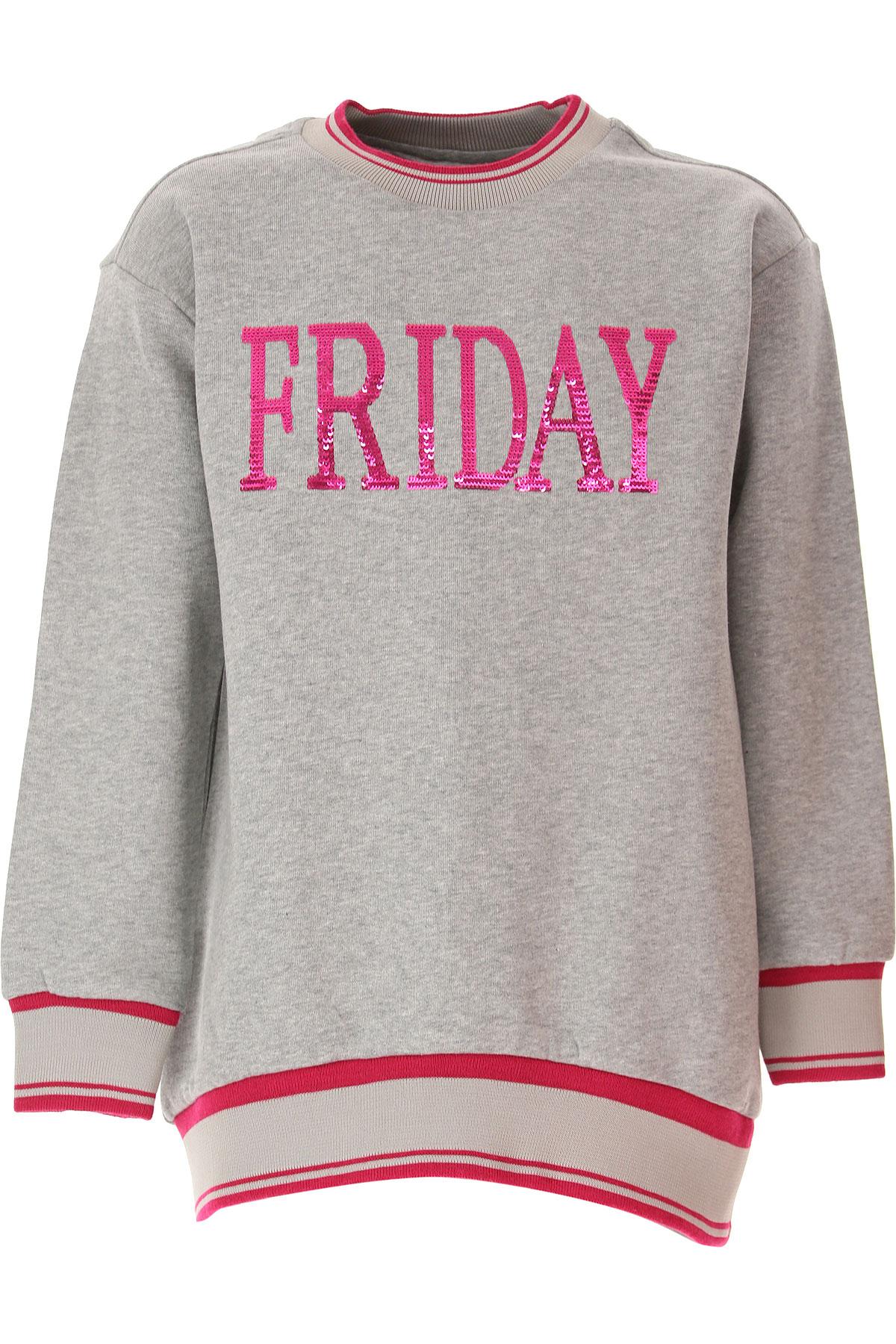 Alberta Ferretti Kids Sweatshirts & Hoodies for Girls On Sale, Grey, Cotton, 2019, 12Y 14Y