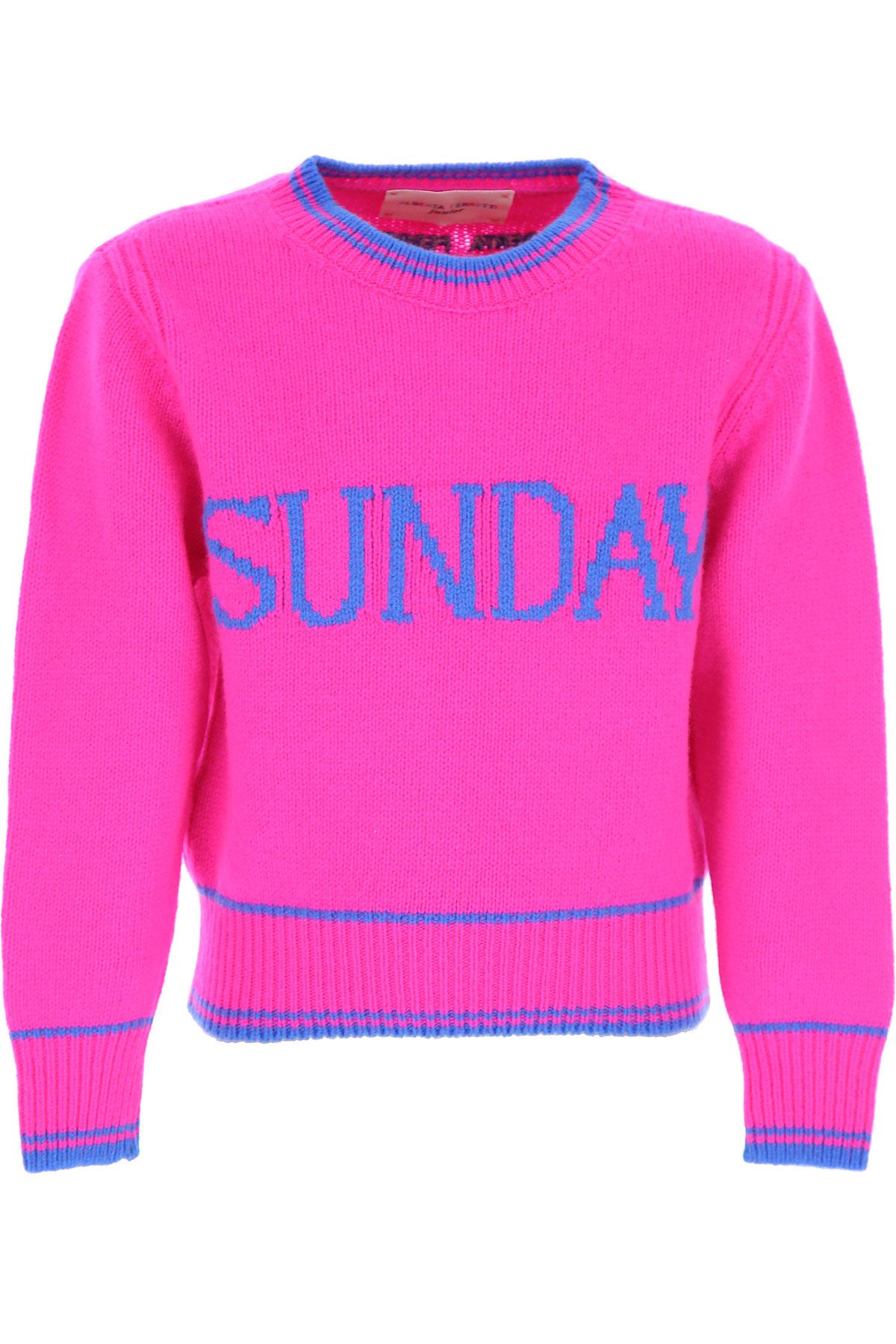 Alberta Ferretti Kids Sweatshirts & Hoodies for Girls On Sale, Fuchsia, Merinos Wool, 2019, 12Y 8Y