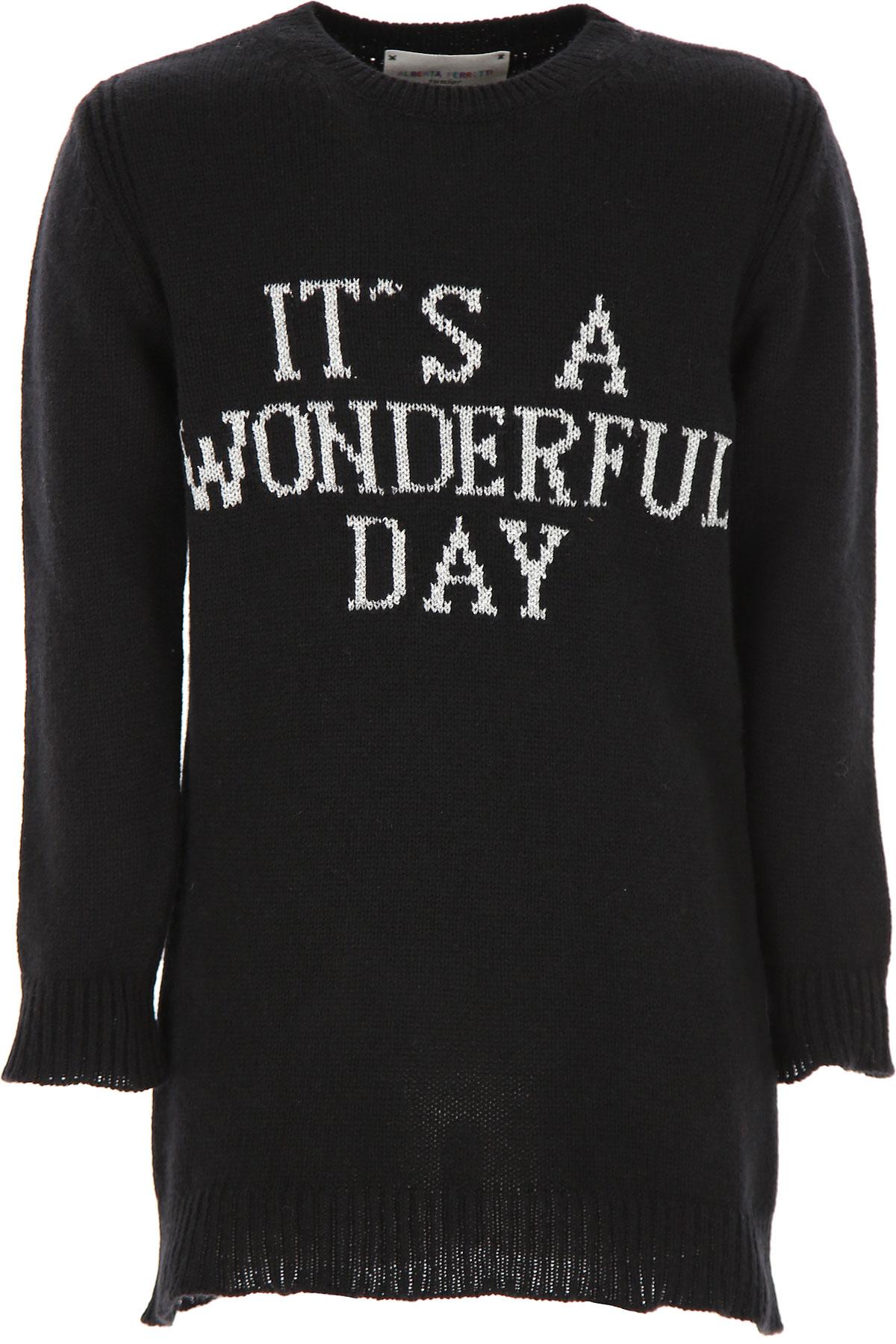 Alberta Ferretti Girls Dress On Sale, Black, Wool, 2019, 6Y 8Y