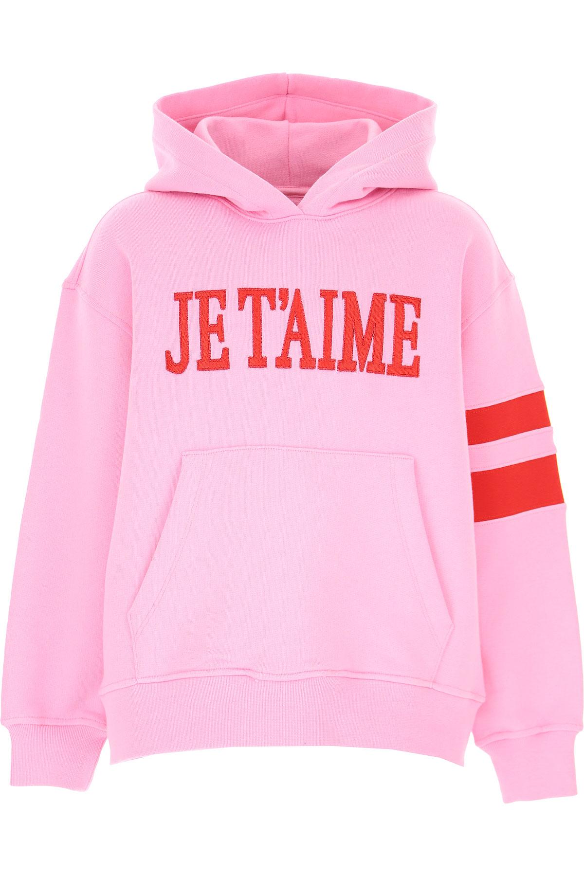 Alberta Ferretti Kids Sweatshirts & Hoodies for Girls On Sale, Baby Pink, Cotton, 2019, 10Y 12Y 14Y 4Y 8Y