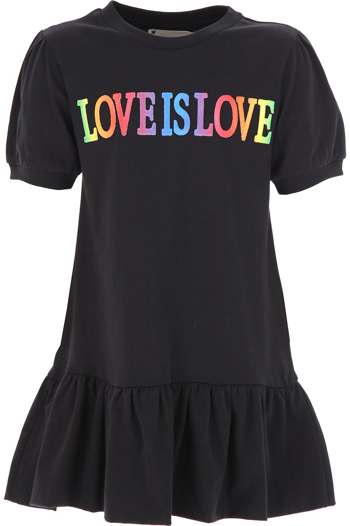 Alberta Ferretti Girls Dress On Sale, Black, Cotton, 2019, 10Y 4Y 6Y 8Y