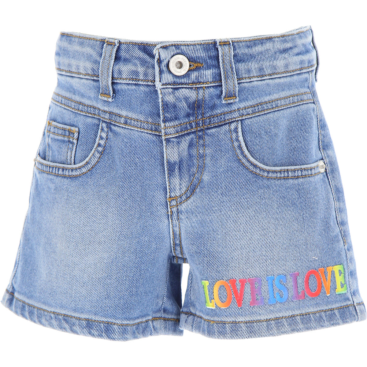 Alberta Ferretti Kids Shorts for Girls On Sale, Blue Denim, Cotton, 2019, 10Y 12Y 4Y 8Y