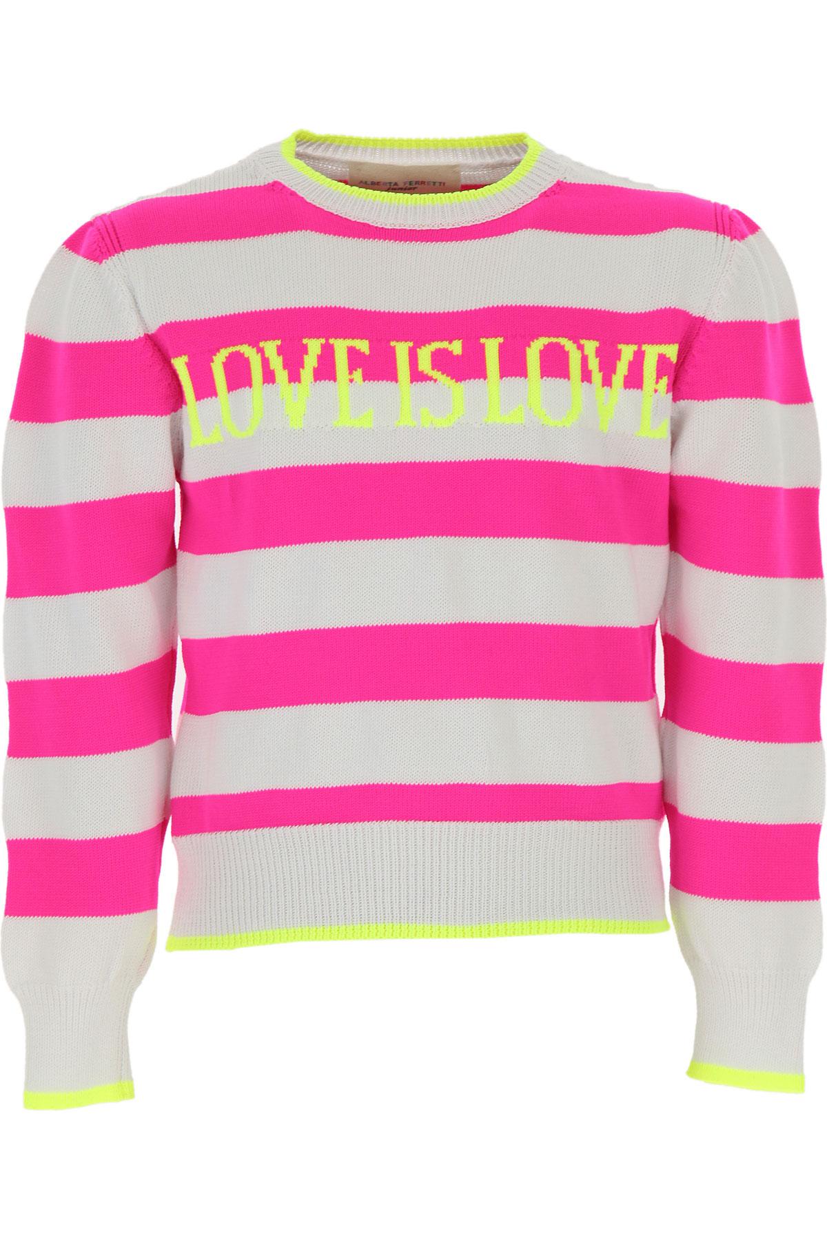 Alberta Ferretti Kids Sweaters for Girls On Sale, Fluo Fuchsia, Cotton, 2019, 10Y 12Y 14Y 4Y