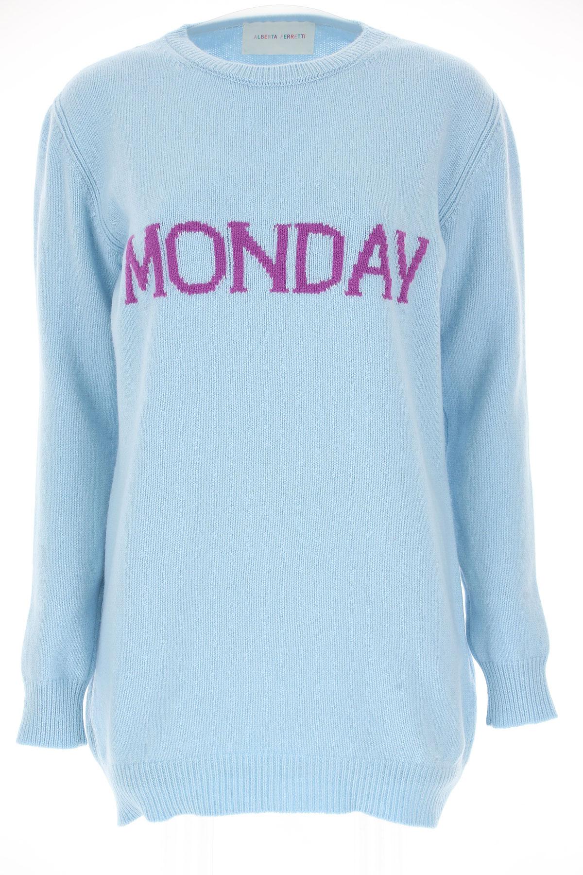 Alberta Ferretti Sweater for Women Jumper On Sale, Monday, Skyblue, Wool, 2019, 2 4
