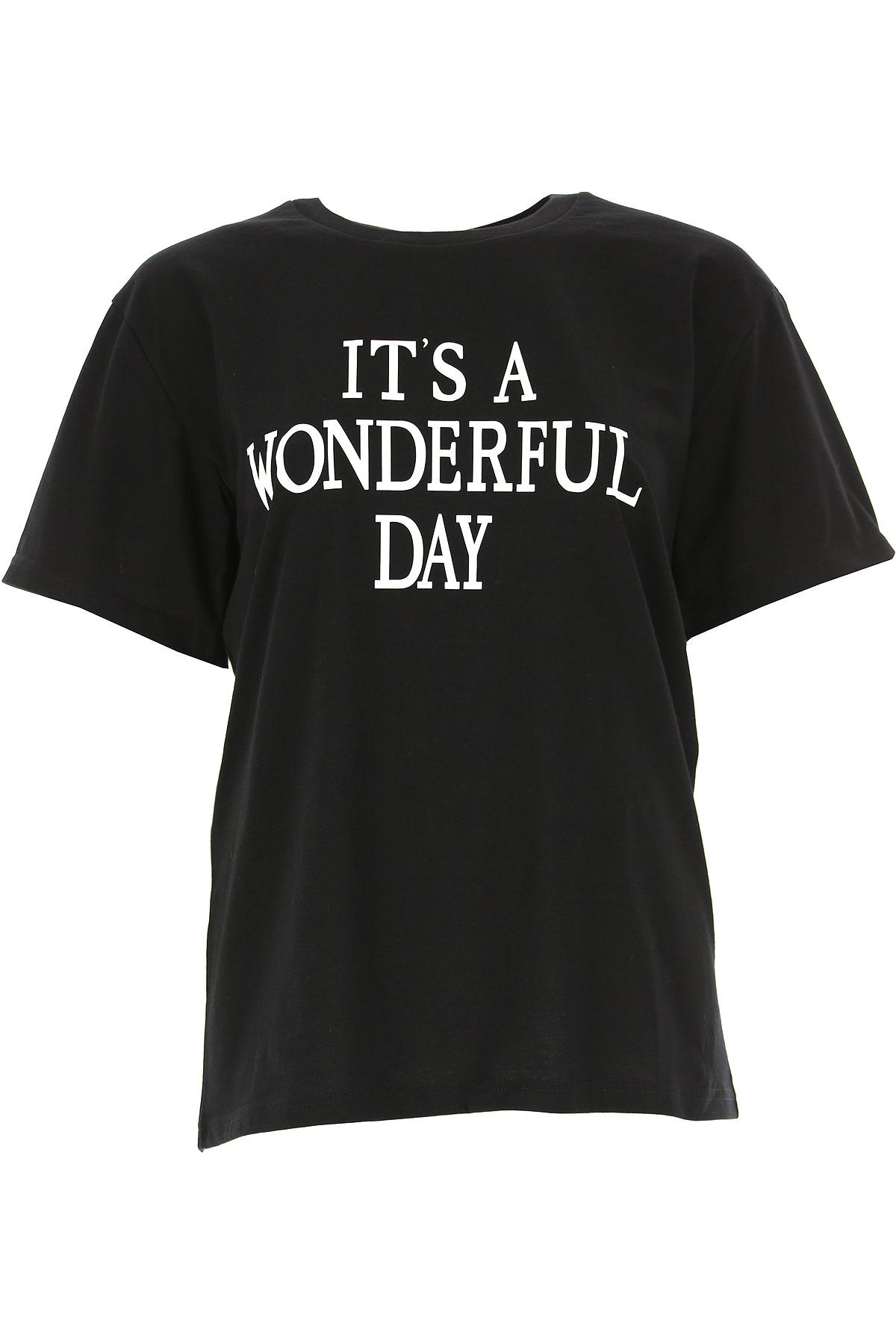 Image of Alberta Ferretti T-Shirt for Women, Black, Cotton, 2017, 2 4 6 8