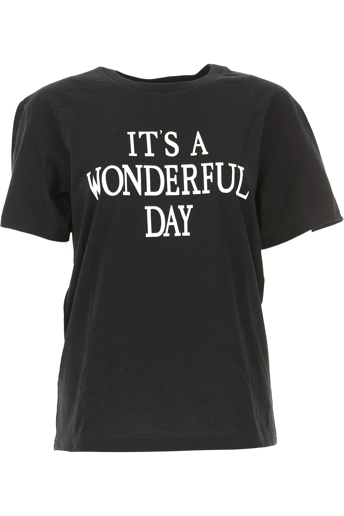 Image of Alberta Ferretti T-Shirt for Women, Black, Cotton, 2017, 2 4 6