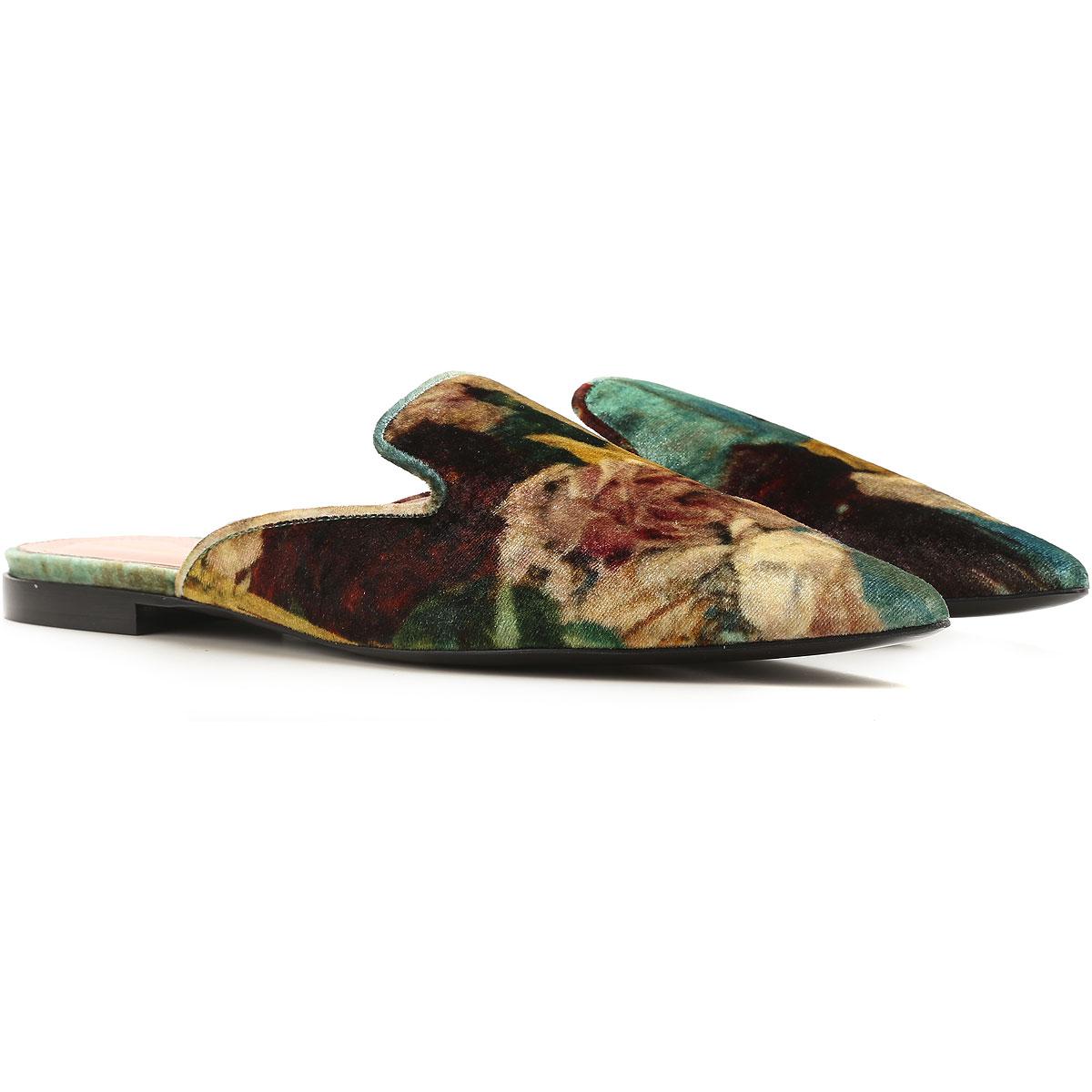 Image of Alberta Ferretti Sandals for Women On Sale, Green, Velvet, 2017, 5 5.5 6.5