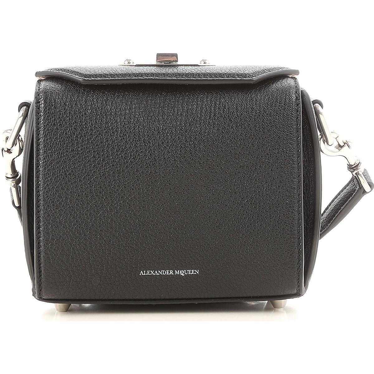 Image of Alexander McQueen Shoulder Bag for Women On Sale, Black, Leather, 2017