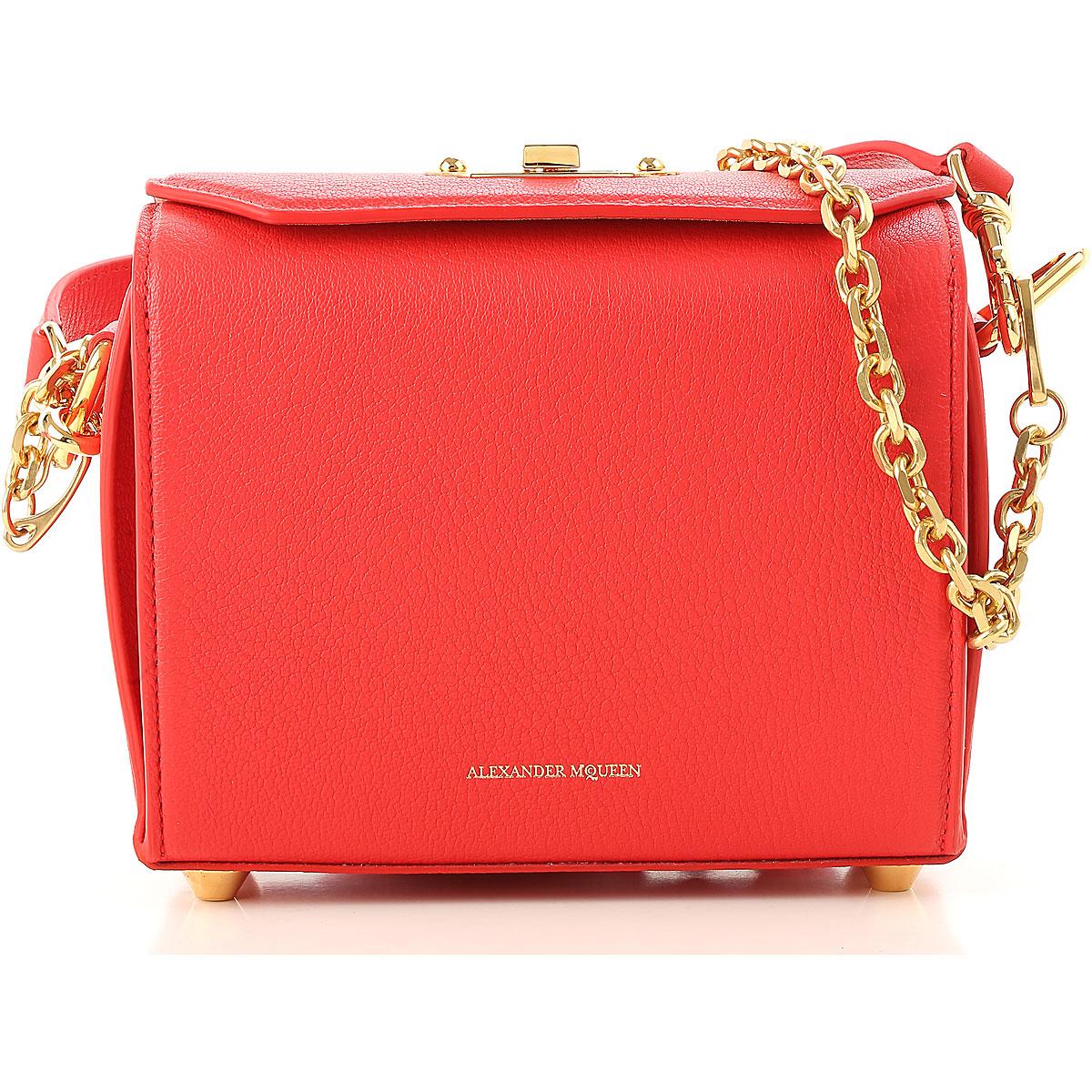 Image of Alexander McQueen Handbags, Red, Leather, 2017