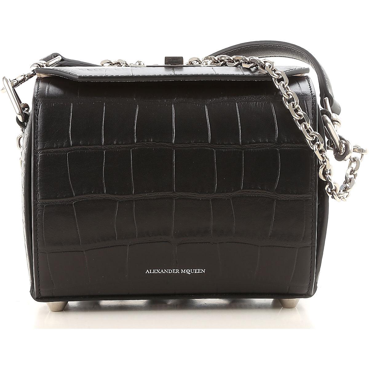 Image of Alexander McQueen Shoulder Bag for Women, Black, Leather, 2017