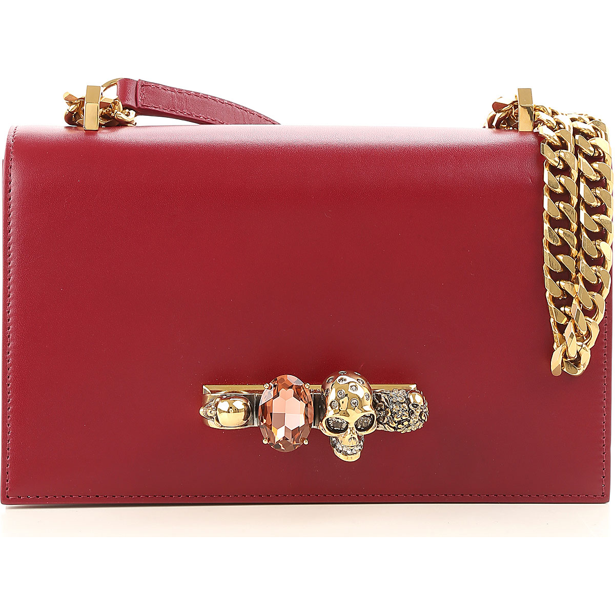 Image of Alexander McQueen Shoulder Bag for Women, Dark Rose, Leather, 2017